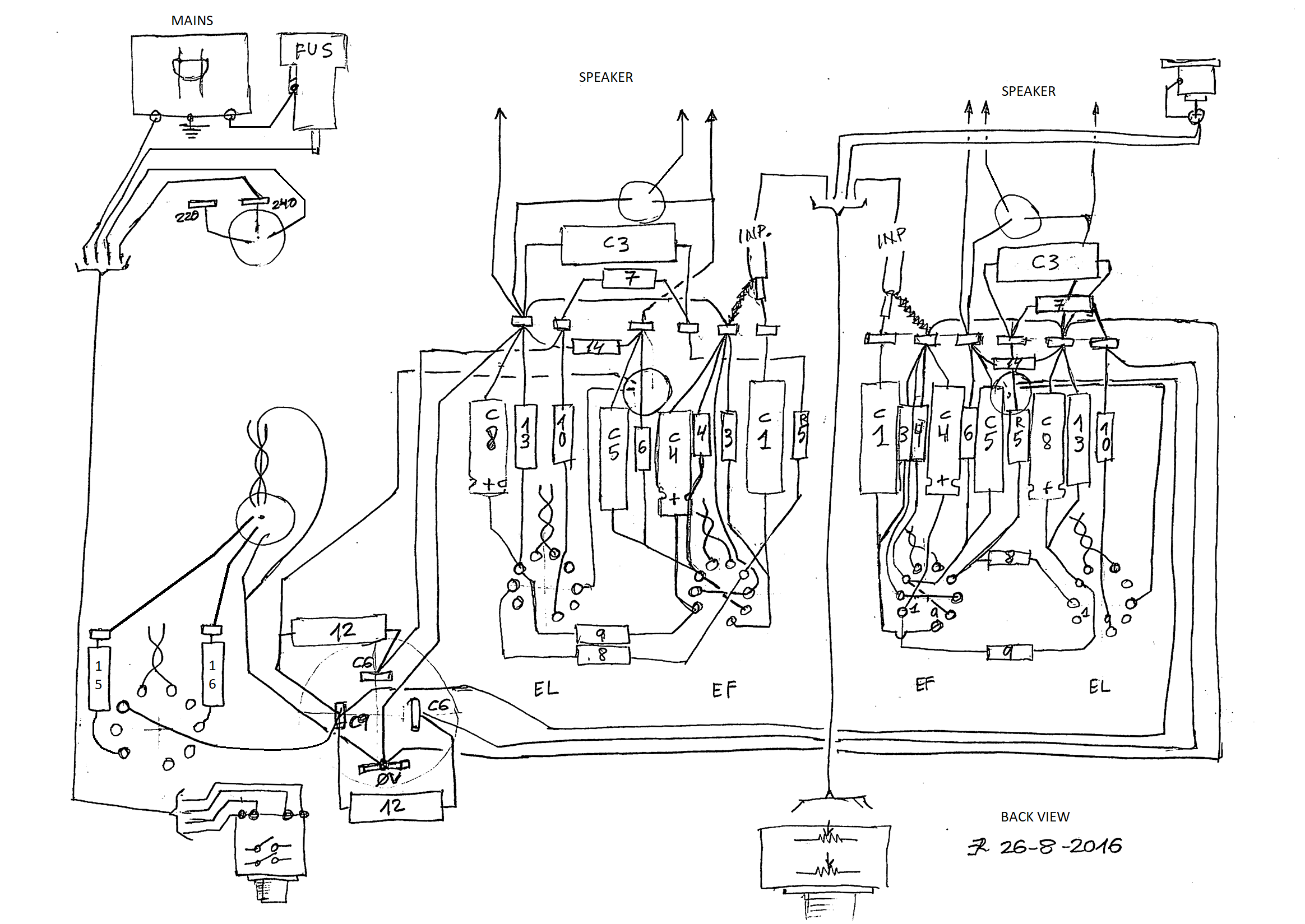 0355st wiring heated cathode Black and White Representation wiring diagram